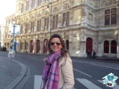 Em Vienna, gravidíssima sem saber!