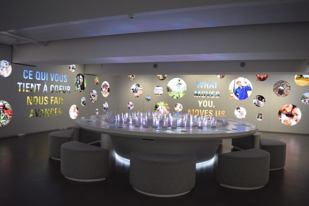 Mesa interativa de atividades